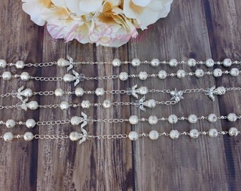 Silver or Gold, Beautiful Crystal  Wedding Lasso, Wedding Lazo