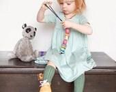 Colorful Bead Stringing Game, Wooden Bead Activity, Preschool Activities for Kids