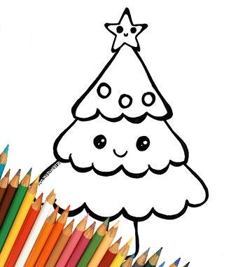 Disegni Di Natale Kawaii.Disegni Di Natale Facili Per Bambini