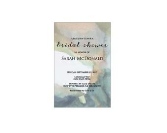 Watercolor Bridal Shower Invitation Template