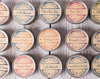 Fandom Candles ~ Pick any 2  ~ Candles Inspired by TV, Film, Book, Magic and More ~ 4oz Soy Candles