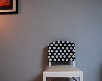 Nice old chair with polka dots