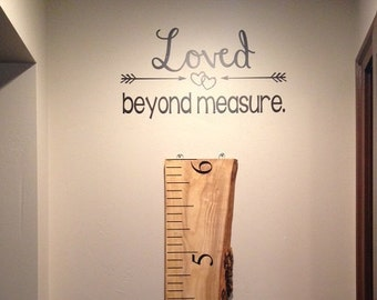 Loved Beyond Measure (DECAL ONLY!)