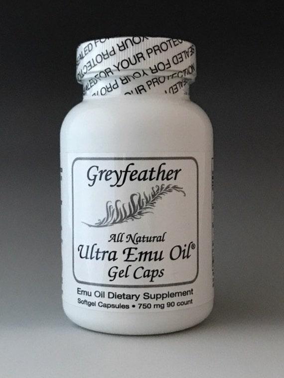 NEW! Greyfeather Ultra Emu Oil® Gel Caps