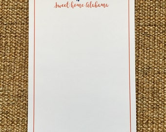 Alabama Notepad - College Colors - Sweet Home Alabama - Graduation Gift - Alumni - State Pride - State Love - SEC
