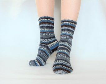 Knit socks for women Knitted socks Wool knitting socks Hand knit women socks Warm wool socks for her socks Birthday gift for women Gift