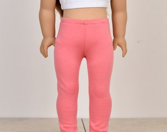 18 inch doll clothes Leggings Color Coral