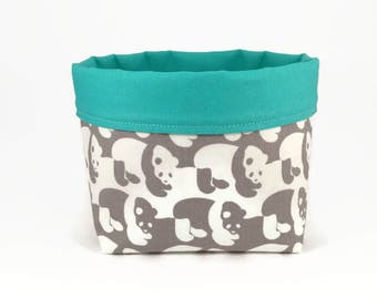 Nursery basket, Storage basket, Panda, Cute storage basket, Baby shower gift, Nursery storage, Storage bin, Toy storage, Fabric basket
