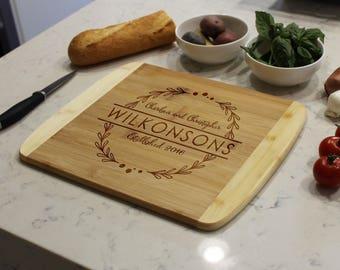 Personalized Cutting Board, Custom Cutting Board, Engraved Cutting Board, Cutting Board, Custom Wedding Gift --CB-BAM- WILKONSONS