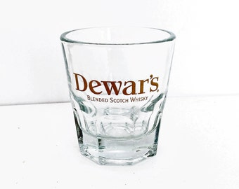 Dewar's Shot Glass, Scotch Glass, Whiskey Glass