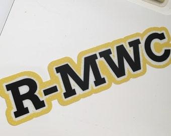 R-MWC Mini Vinyl Sticker! RMWC, Randolph-Macon Woman's College