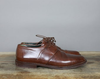 90s JOAN & DAVID OXFORDS brown leather shoes size 7