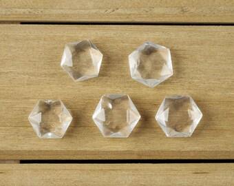 2cm Small CLEAR QUARTZ Crystal Prism - Hexagonal Crystal Sacred Geometry - Heart Chakra Stone for Quartz Necklace, Quartz Pendant E0127