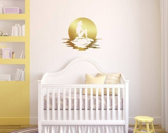 Mermaid Wall Decal, Baby Room Mermaid Wall Decorations, Vinyl Wall Stickers, Sticker Wall Art, Removable Wall Art, Baby Room Stickers