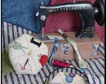 Digital Punch Needle Pattern, 614 Sew'n Stuff Biscornu Pincushion, Punch Needle Art