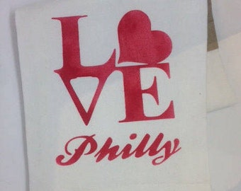 Love Philly Tea Towel