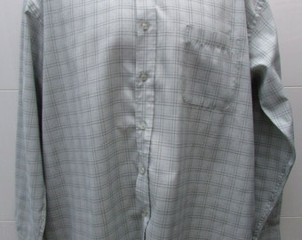 EWM Checked Button Down Collar Long Sleeved Shirt