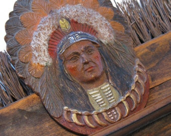 Native American Indian Assemblage /Western Art/ Cabin Decor/ Shelf Piece/Assemblage