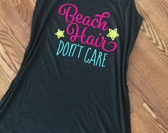 Beach Hair Don't Care- Women's Beach Cover Up - Beach Dress - Swimsuit Coverup - Summer Dress - Pool Cover Up - Beach Please