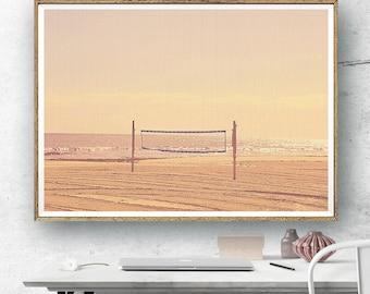 Beach Volleyball Photography, Beach Print, Large Wall Art Print, Coastal Art Decor, Nature Photography, Fine Art Print, Modern Coastal Print