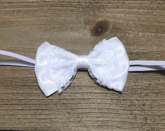 Newborn Headband White Baby Headband White Bow Headband Baby Bows Baby Headband Hair Bows Newborn Bow Ivory Bow Blue Bow Baby Hair Bows