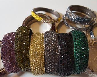 Bangles Bracelet Crystal Thick Single Statement Vintage Chic