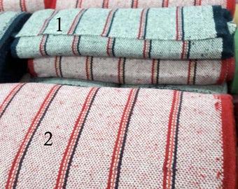 "Striped Jerga 19.6""W 1yrd L,baja hoodie fabric,mexican hoodie,floorcloth,decoration fabric,rug,sarape,zarape fabric,kitchen rug"