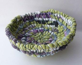 """Coiled Fabric Bowl - """"Spring Garden"""""""