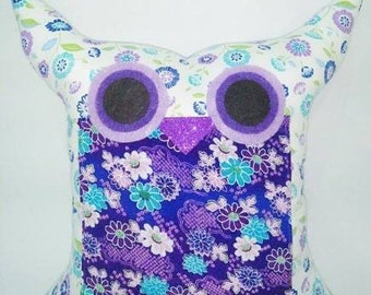 Purple owl pillow /decoration cushion/ owl pillow/for hew /Express shipping/Ready to ship