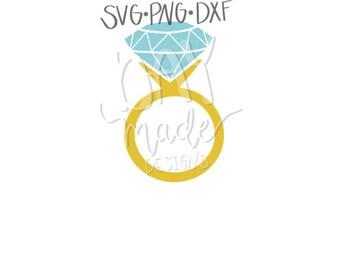 Diamond Ring SVG, Wedding SVG