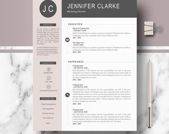 resume cv template modern professional resume for word cover letter references