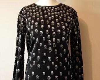 Designer Adrienne Vittadini '80s vintage beaded sweater