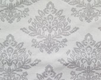 Velvet Damask-Gray Fabric