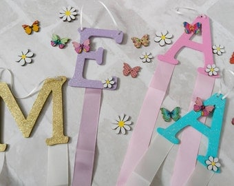 Personalised hair clip holder - Hair bow holder - Clip Holder - Bedroom Decor - Gifts for Girls -Girls Bedroom -Hair Accessories storage