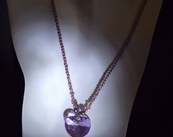 Swarovski Crystal Heart Pearl Necklace by April V.
