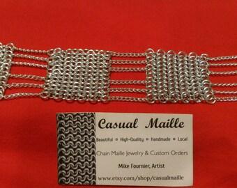 """European 4:1 + Chain Bracelet 7""""-8"""" (Long Clasp)"""