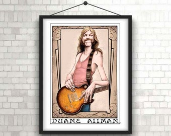 Allman Brothers Illustration/ Rock Music poster