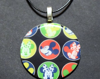 Handmade Upcycled Washer Necklace Disney Mickey Mouse