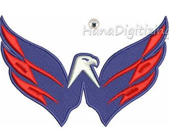 Washington Caps Logo Machine Embroidery Design 4 Sizes