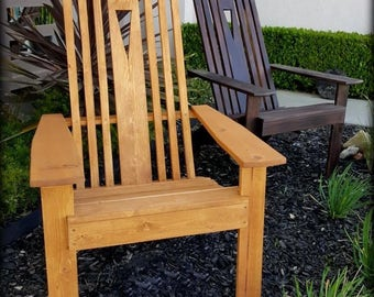 Mission-Style Adirondack Chair