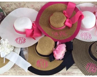 Bridal Party Hats Wedding Party Floppy Hats Personalized Bride Bridesmaids Customized Names or Quotes Bridesmaid Gifts OTHER COLORS!