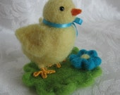 Needle Felted Chick,Peeps, Felted Baby Chick, Rebirth,Nature Table,Needle Felt Farm Animals,Easter,Easter Decor, Spring Decor, Equinox