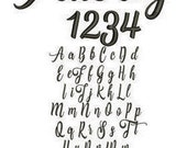 Aubrey  Embroidery Font Includes 6 Sizes