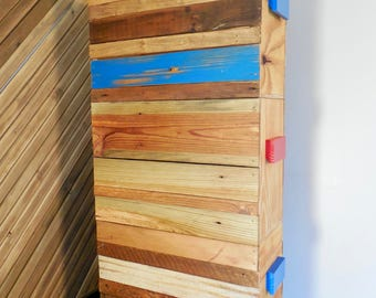 Handmade Recycled Wood and Plywood Comic Book Storage Box