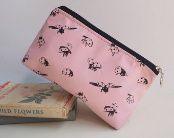 Pink Ladybirds Make Up Bag, Makeup Bag, gift for her, Cosmetic Bag, Cute Pencil Case, Teenage Girl Gifts, Teenager, Gift for Women, Mum