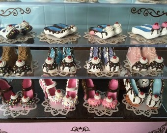 ICE CREAM SHOES - 1:6 Scale Miniature - Blythe Licca & Ever After High Doll Shoes