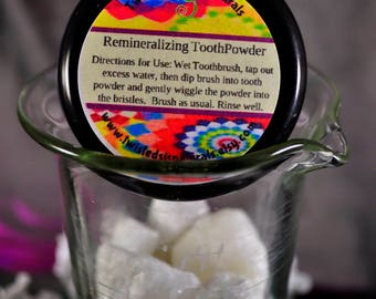 2oz Toothpowder in Peppermint, Cinnamon, or Mucky (with Charcoal)
