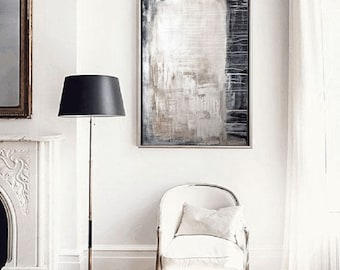 wall art  grey creme painting  abstract painting  wall art  by jolina anthony