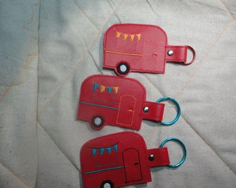 Camper Key Fob Red Colored three to choose from