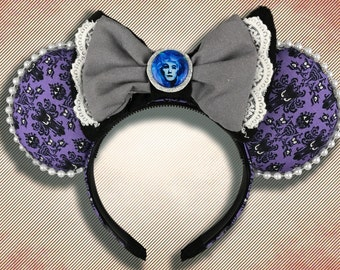 Haunted Wallpaper Mouse Ear Headband with Bow